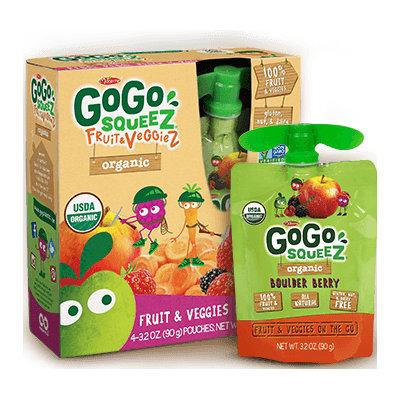 GoGo SQUEEZ ORGANIC BOULDER BERRY FRUIT & VEGGIEZ