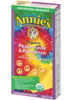 Annie's®  Homegrown Organic Peace Pasta & Parmesan Macaroni & Cheese