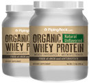 Piping Rock Organic Whey Protein Unflavored free of rBGH 2 Bottles x 1.1 LB (499 g) Powder