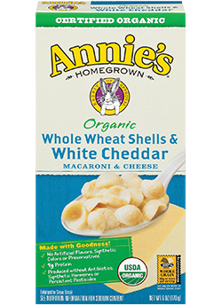 Annie's®  Homegrown Whole Wheat Shells & White Cheddar