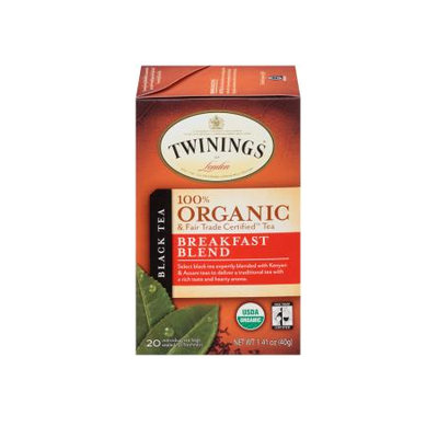 TWININGS® OF London Breakfast Blend Organic Tea Bags