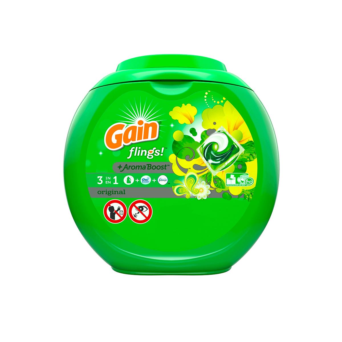 Gain Original Flings With Oxi Boost & Febreze Freshness
