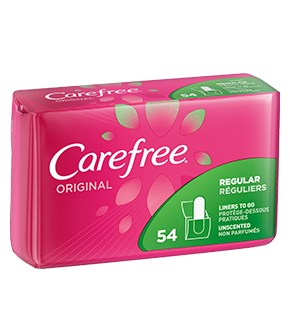 Carefree® Original Regular Liners, Scented
