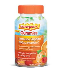 Emergen-C Gummies Immune Support 500 mg Vitamin C Orange, Tangerine & Raspberry