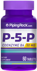 Piping Rock P-5-P (Pyridoxal 5-Phosphate) 50 mg Coenzymated VitaminB-6