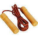 Pro Leather Wood / Bearing Handle Jump Rope from Valor Athletics