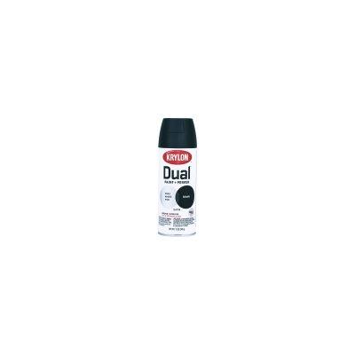 Krylon K08823000 Paint + Primer Dual Spray ~ Black Satin, 12oz