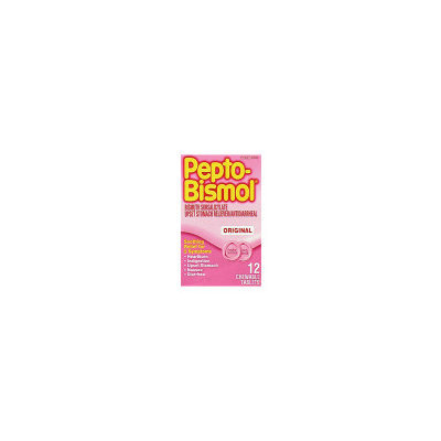 Pepto-Bismol Stomach Relief - Chewable Tablets, 12 ct