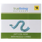 Trueliving True Living Coil Hose with Nozzle - 25 foot
