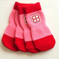 PetEgo 1 Set 4pcs of pet socks X-Large Red/Pink