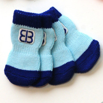 Pet Ego Home Comfort Traction Control Socks Blue, Size: Large