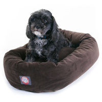 Majestic Pet Products, Inc. Bagel Donut 24-inch Faux Suede Pet Bed