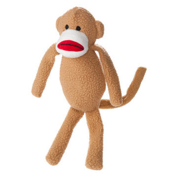 Top Paw Monkey Dog Toy Plush, Squeaker