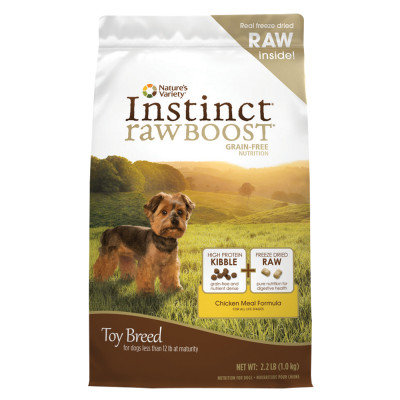 Natures Variety Instinct Rawboost Grain Free Chicken Toy Breed Dog Food