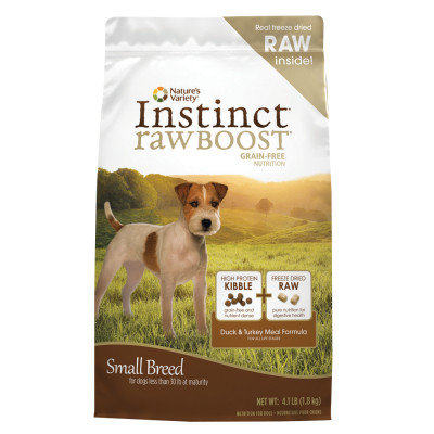 Natures Variety Instinct RawBoost Grain Free Duck and Turkey Small Breed Dog Food