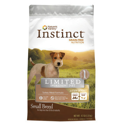 Natures Variety Instinct Limited Ingredient Raw Grain Free Turkey Small Breed Dog Food