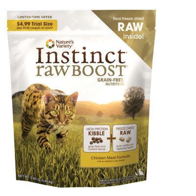 Natures Variety Instinct Rawboost Grain Free Chicken Cat Food