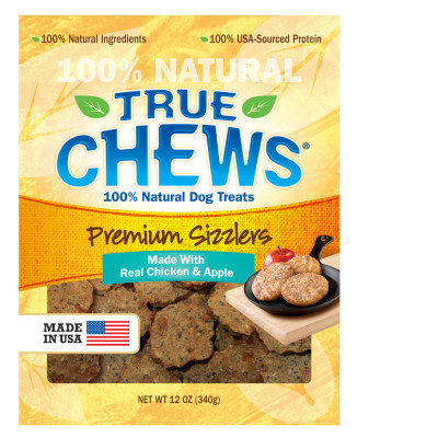 True Chews Premium Sizzlers Chicken and Apple Dog Treat