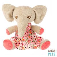 Martha Stewart Pets Elephant Dog Toy Plush, Squeaker