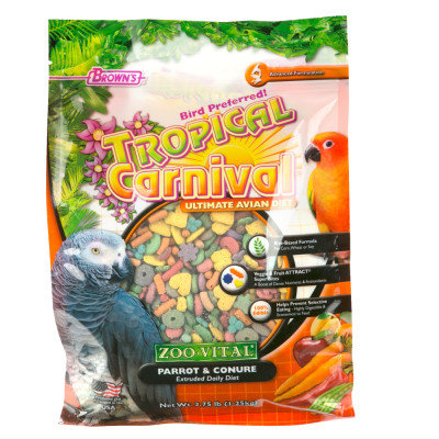F.m. Brown Pet Tropical Carnival Zoo-Vital Small Parrot & Conure