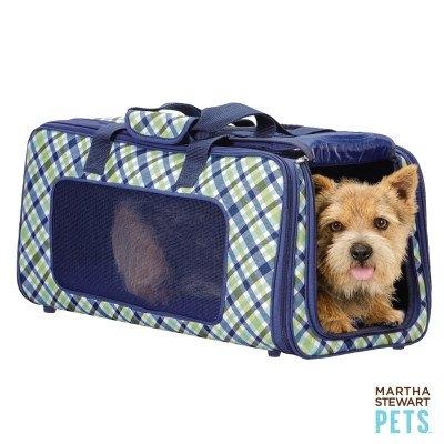 Martha Stewart Pets Plaid Dog Carrier