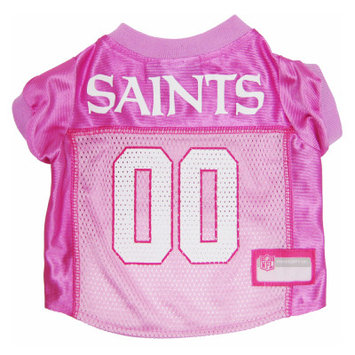 Doggie Nation.com New Orleans Saints Pink Dog Jersey X-Small