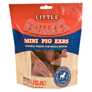 Little Grillerz Natural Mini Pig Ears Small Breed Dog Treat