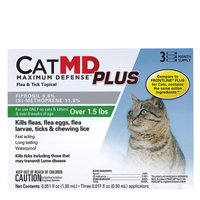 Cat MD Plus Maximun Defense Flea and Tick Topical Compare to FRONTLINE Plus