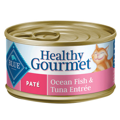 Cherrybrook Blue Buffalo Pate Cat Food Adult Ocean Fish and Tuna CASE of 24 3oz CANS