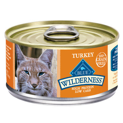 Blue Buffalo Wilderness Turkey Recipe 24 Case 3 oz Cat Food