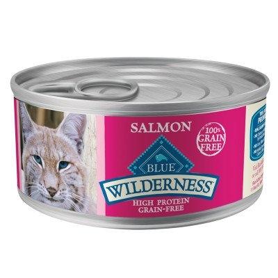 Blue Buffalo Wilderness Salmon Recipe 24 Case 5.5 oz Cat
