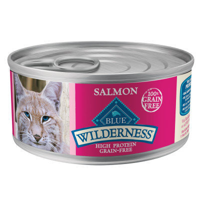 Blue Buffalo Wilderness Salmon Recipe 24 Case 5.5 oz Cat