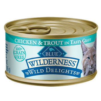 Blue Buffalo Company Blue Buffalo Wilderness Wild Delights Flaked Chicken and Trout Canned