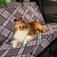Top Paw Plaid Fashion Rear Seat Protector, Gray