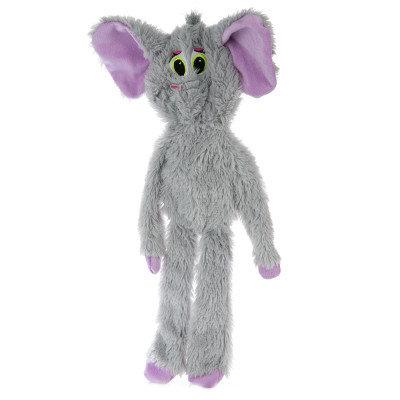 Grreat Choice Elephant Dog Toy Stuffing Free, Crinkle, Squeaker