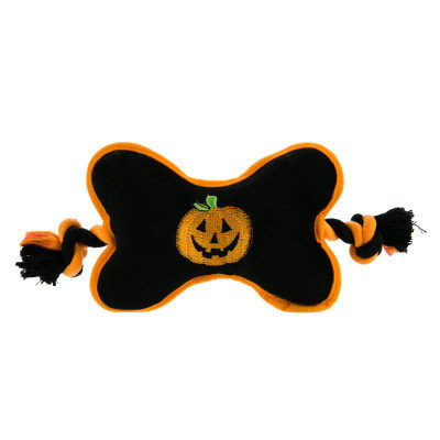 Top Paw Pet Halloween Bone Tug Dog Toy Squeaker