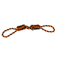 Top Paw Pet Halloween Two Knot Monkey Fist Tug Dog Toy