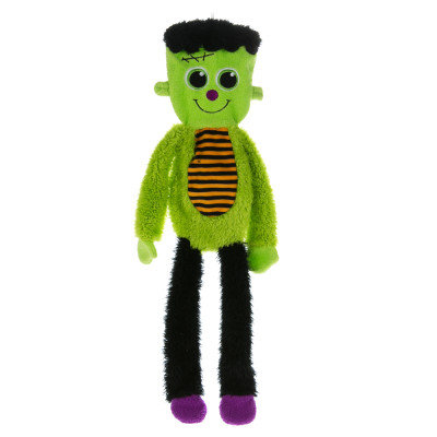 Top Paw Pet Halloween Flattie Frankenstein Dog Toy Stuffing Free, Crinkle