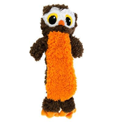 Top Paw Pet Halloween Flattie Owl Dog Toy Stuffing Free, Squeaker