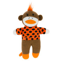 Grreat Choice Pet Halloween Sock Monkey Dog Toy Squeaker