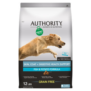 Authority GNC Pets Skin, Coat+ Digestive Health Support Adult Dog Food - Grain Free, Fish Potato