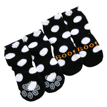 Grreat Choice Pet Halloween Polka Dot Boo Socks