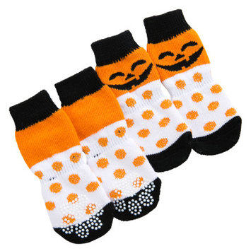 Grreat Choice Polka Dot Pumpkin Socks