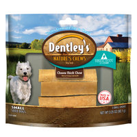 Dentley's Nature Chews Cheese Stick Chew Small Dog Treat