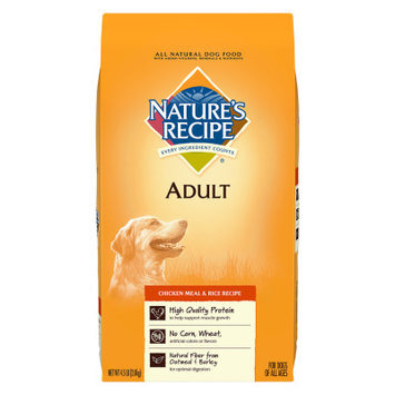 Nature's Recipe Nature Recipe Adult Dog Food Natural, Chicken Meal and Rice