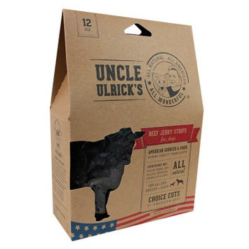 Uncle Ulrick's Uncle Ulricks Natural Beef Jerky Strips Dog Treat