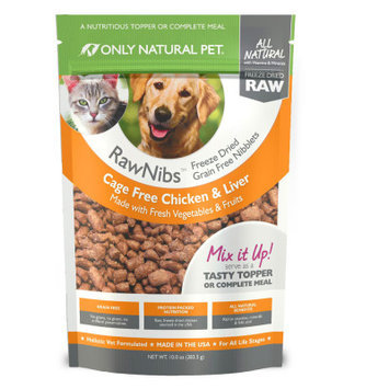 Only Natural Pet RawNibs Freeze Dried Chicken 10 oz