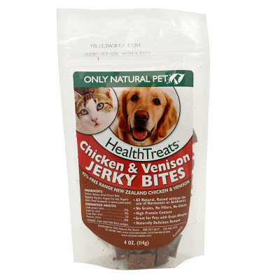 Only Natural Pet Chicken & Venison Jerky Bites 4 oz