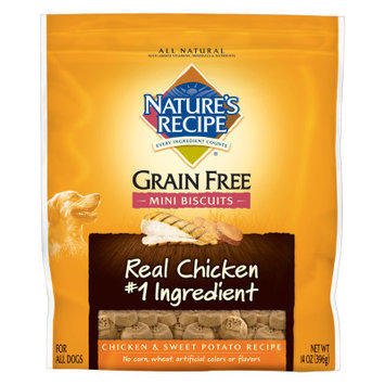 Nature's Recipe Natures Recipe Grain Free Natural Chicken and Sweet Potato Mini Biscuits Dog Treat