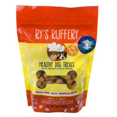 Rys Ruffery-Rys Barkery Grain Free Healthy Dog Treats- Pumpkin Apple 8 Ounce